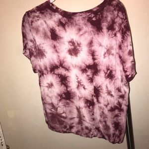 Cute tie dye, somewhat cropped shirt.
